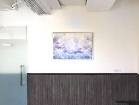 Elemental Kingdom - Dancing Nature (Water), 2017, Spray on Aluminium, 93.5cm x 63.2cm