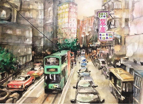 Against the Crowd 回望的自滿  watercolor on paper, 2015, Watercolor on paper, 36x48cm