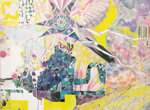 Fantasy Land 1, 2016, Acrylic, Paint marker on Canvas, 90cm x 120cm