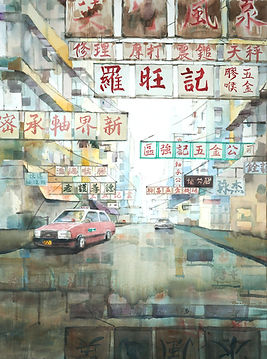 Signs of our Times 時間的痕跡, 2019, Watercolour on Canvas, 60x80cm