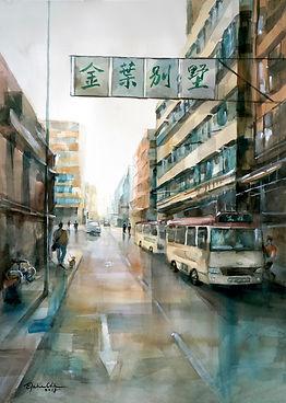 Fading Memories 褪色記憶, 2018, Watercolour on paper, 70x50cm