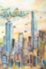 Golden Memories 黃金記憶, 2018, Watercolour on paper, 150x100cm