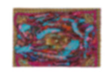 Hybridity #12, 2017, Acrylic, Epoxy Resin, Paint Pens, Gold Pigment, Cotton on Canvas, 90cm x 60cm