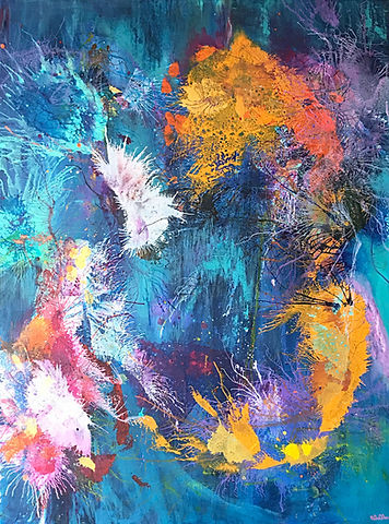秋 Autumn, 2017, Acrylic on Canvas, 90cm x 120cm