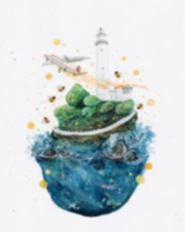 """綠島回憶V3, 2017, Watercolour, 11"""" x 7.5"""""""