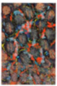 Hybridity #13, 2017, Acrylic, Epoxy Resin, Paint Pens, Gold Pigment, Silk on Canvas, 90cm x 60cm
