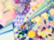 Fantasy Land 3, 2016, Acrylic, Paint Marker on Canvas, 90cm x 120cm