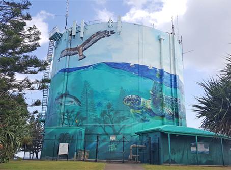 Mega Mural Reflects Oceanic Calm