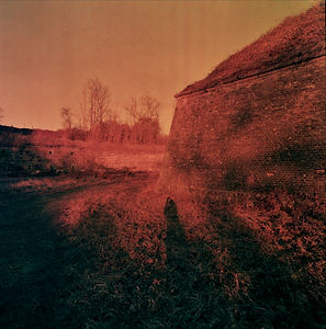 """Landscape Kazematten Maastricht Netherlands, """"Distant Bodies Wired Souls"""" text which reffers to a photographic series about personal examination of intimacy and romance amid the distance"""