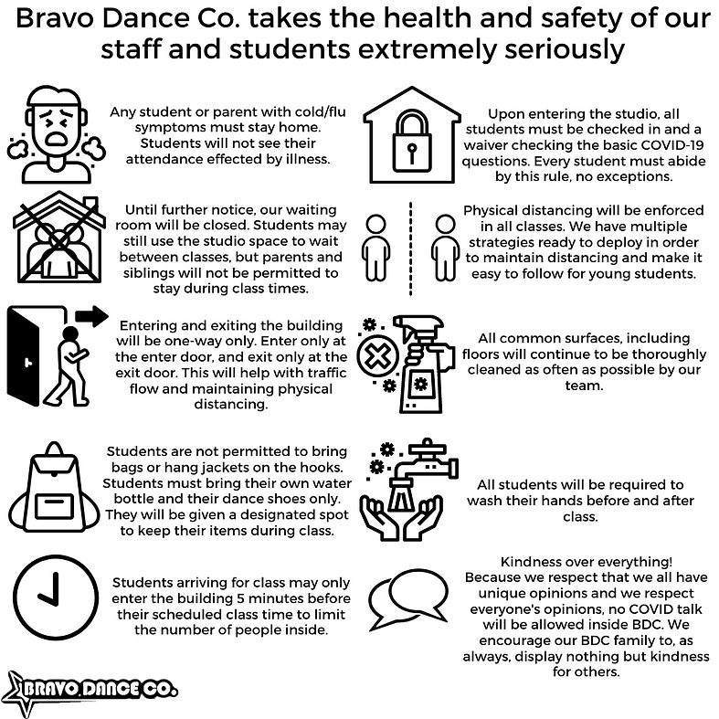 Bravo Dance Co. takes the health and saf