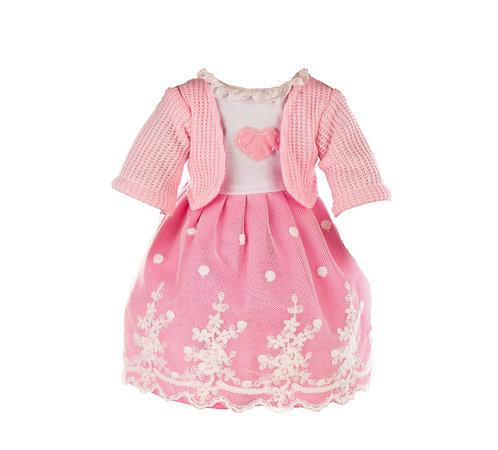 Vestito Rosa con Cuore e Giacchetta