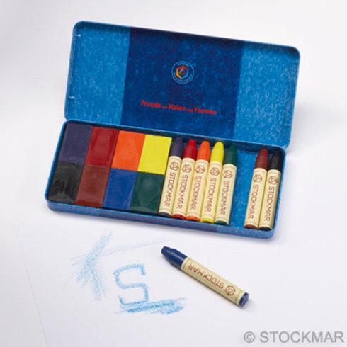 STOCKMAR 8色蠟磚+8色蠟筆