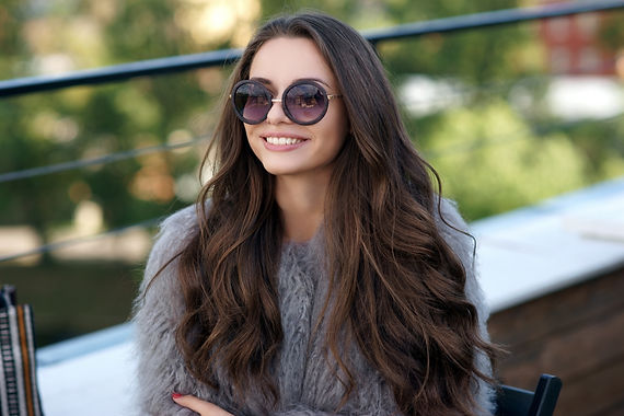 Trendy dressed fashionable girl wearing