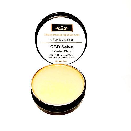 Sativa queen cbd salve calming blend 2 oz 1000 mg