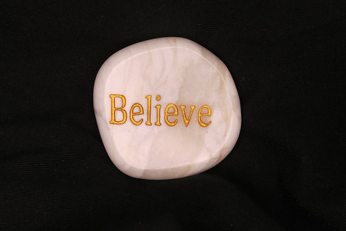 Believe White Agate