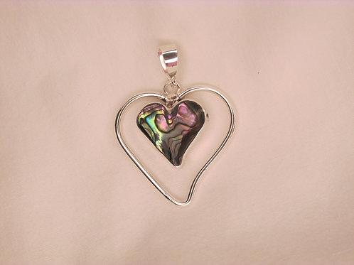 Abalone Heart Pendant