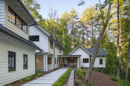 This Modern Farmhouse in North Asheville was a full service new construction project.