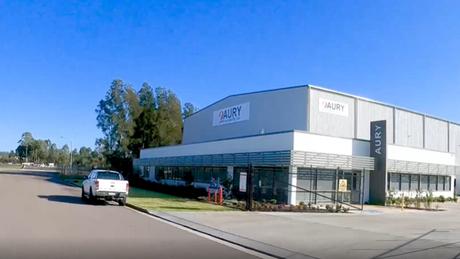 Fly-by Aury Australia's new facility