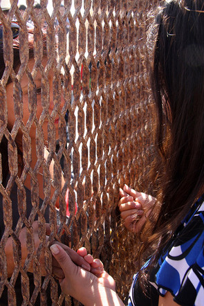 2008 Visiting her mother, Border Fence,