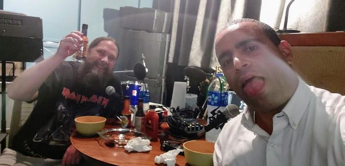 Paul and Ran at Sunset Studio