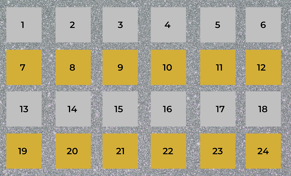 Silver and Gold advent calendar