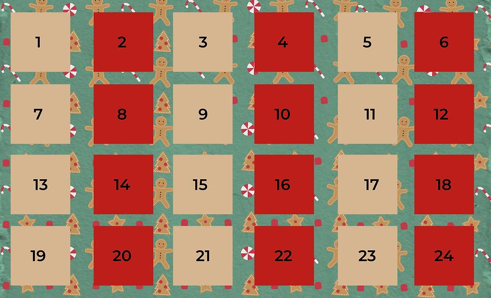 DIY gingerbread candy cane advent calendar