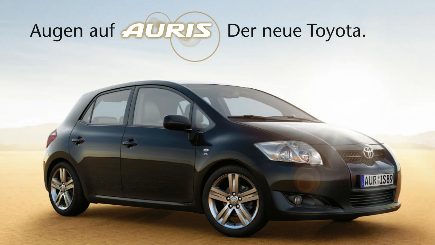 Toyota Auris Kampagne