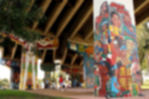 This is a picture of Chicano Park in Barrio Logan