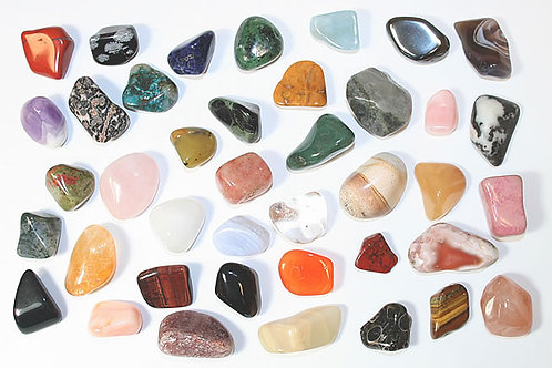 Tumbled  and Raw Chakra Crystals