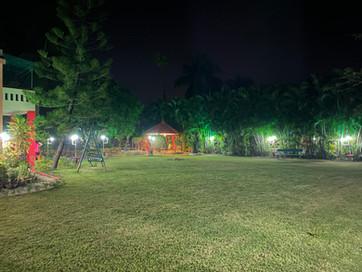 Surabhi 31 Lawn at night