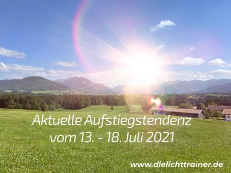 Aktuelle Aufstiegsfrequenz 13. - 18. Juli 2021  -  Grosse Sonneneruption fördert Höheres Bewusstsein