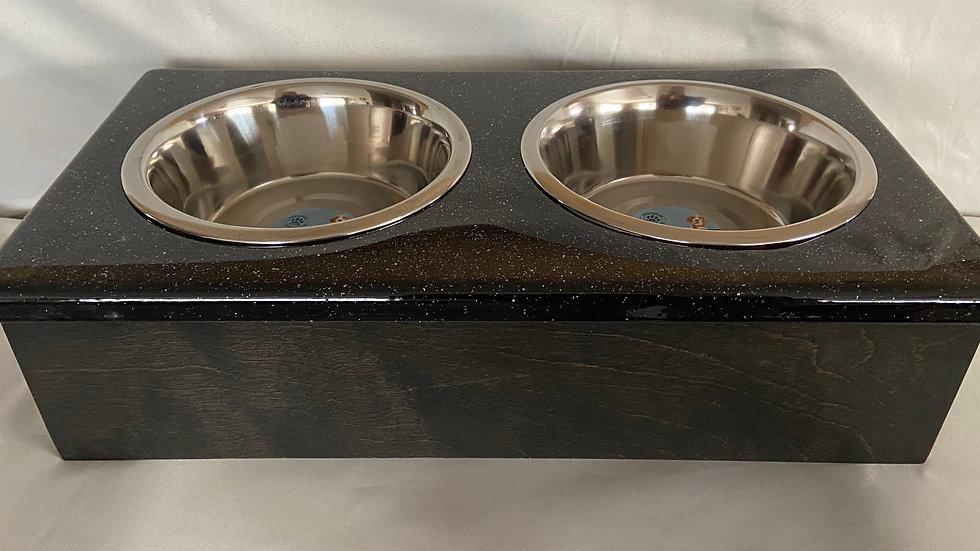 Custom Hand Made Epoxy/Wood Dog Bowl - Large