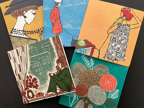 """Greeting cards pack """"Retro"""""""