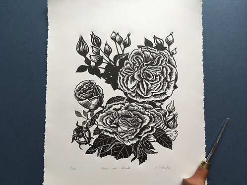 Roses are black