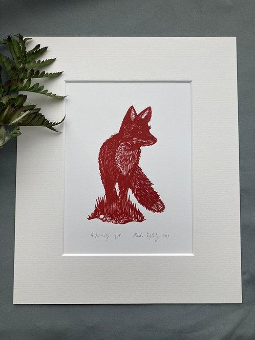 A friendly fox
