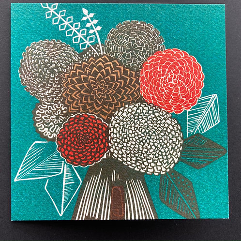"""Geometry I"" greeting card"