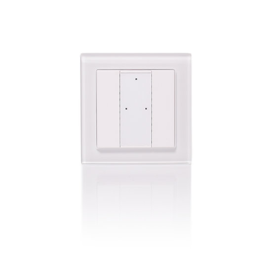 KNX 2 Push Keys, Switching and dimming, Glass