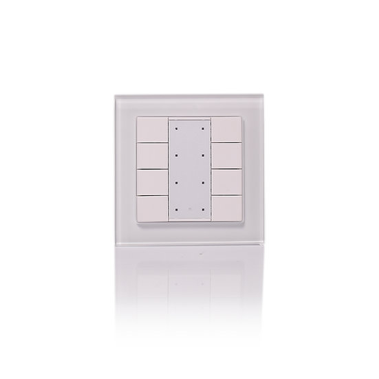 KNX 8 Push Keys, Switching and dimming, Glass