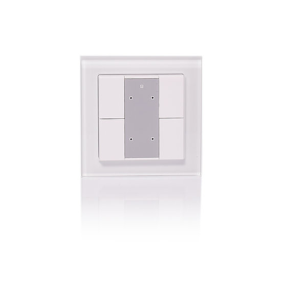KNX 4 Push Keys, Switching and dimming, Glass