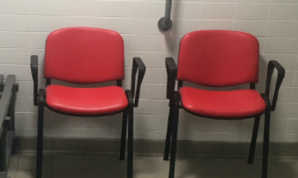 Picture of accessible seating at Scarborough Sports Village