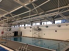 Installation of Aqua Sensory Lights Scarborough Sports Village