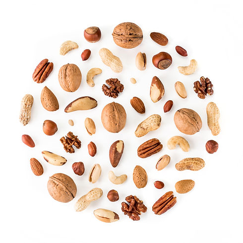 Pattern of nuts in circle form. Various