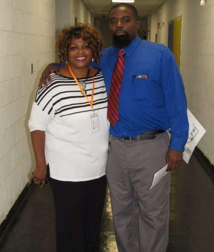 UpROAR Leadership Academy and teachers together in the hallway