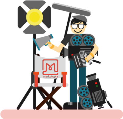 Marketopia's Video production service will create beautiful/viral videos for your company
