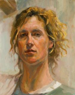 autoportrait, huile sur toile, 40x33 (Medium)