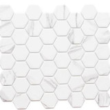 Recycled Glass Hexagon Carrara