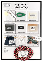 Props & Sets - Sample Tags and Labels