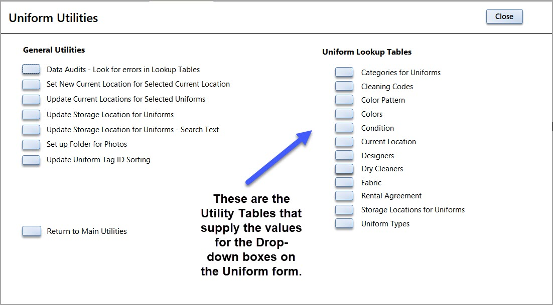 Uniform Utilites