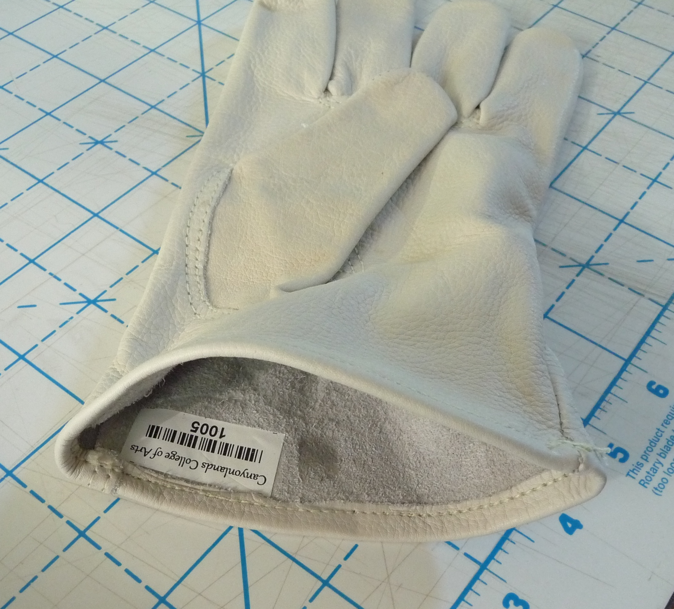 Leather Glove with Iron-on tag