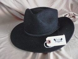 Hat with label on manila tag